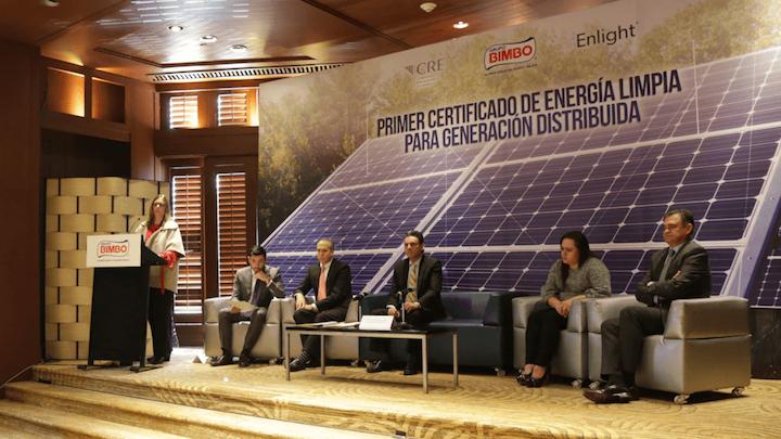 En conferencia de prensa, Grupo Bimbo anunció la emisión de los primeros Certificados de Energía Limpia para Generación Distribuida.
