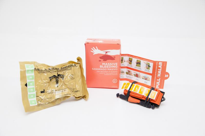 Sub-kit para evitar sangrado masivo, de Tramedic.
