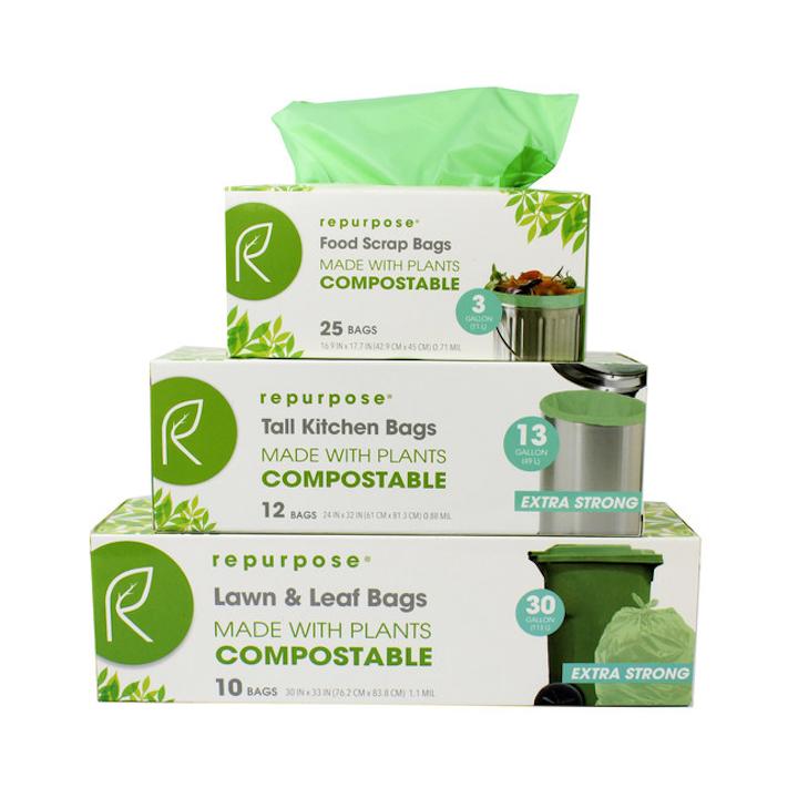 Las bolsas de basura de Repurpose están certificadas por el Biodegradable Products Institute.