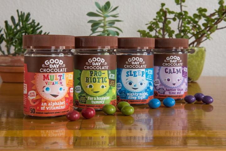 Good Day Chocolate demuestra cómo el envase puede hacer una declaración audaz en una categoría como la de vitaminas/suplementos.