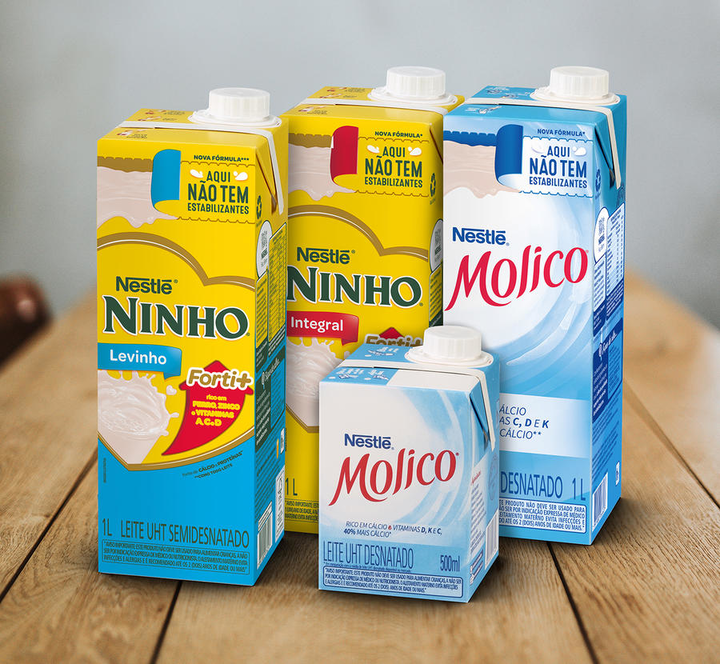 Las leches UHT Molico y Ninho de Nestlé Brasil se están envasando y comercializando en cajas de combiblocMidi.