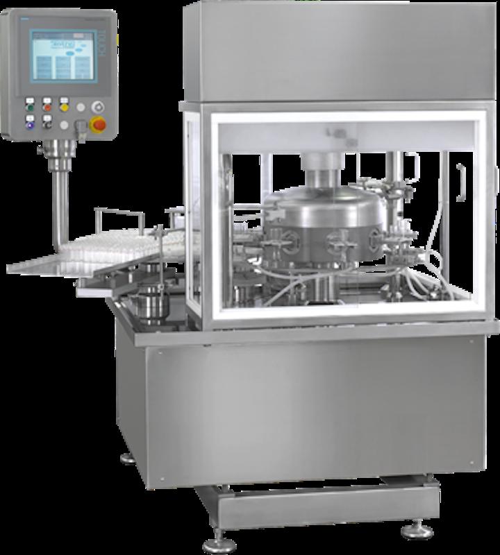 Pierre Fabre seleccionó una lavadora rotativa, similar a la que implementó en otra línea de procesamiento aséptico.