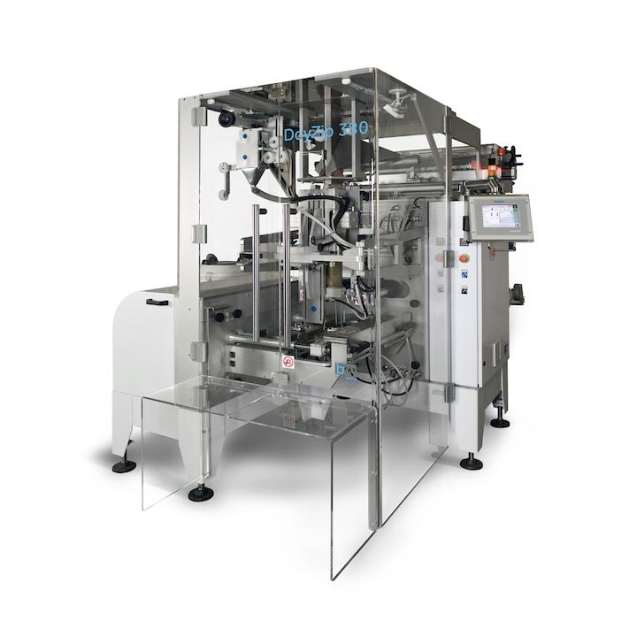 Máquina embolsadora vertical, para formado, llenado, sellado, DoyZip380, de BW Flexible Systems.