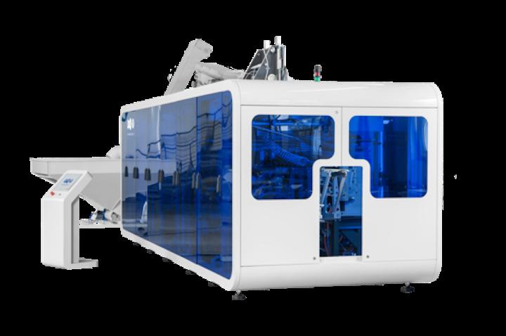 APF-MAX 8 de PET Technologies, de la serie de estiro-sopladoras automáticas que la empresa presenta en EXPO PACK Guadalajara 2019.