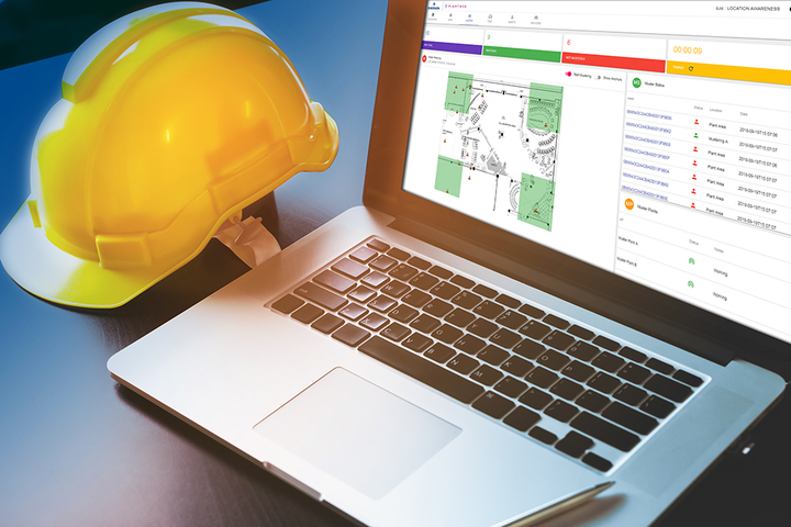 La aplicación de reconocimiento de ubicación, de Plantweb, provee un interfaz de usuario intuitivo que permite contar con geoperimetraje (geofencing), gestión de seguridad y alertas de hombre-caído.