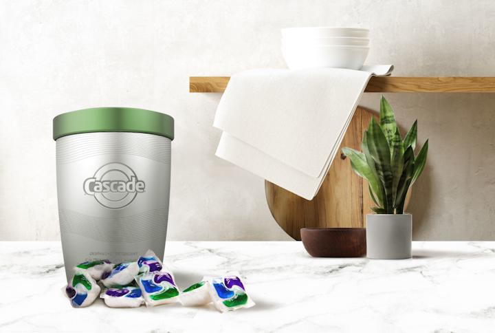 El jabón para la loza Cascade se ofrecerá en un envase de larga duración para los Cascade Action Pacs que les permiten a los usuarios ahorrarse el prelavado.