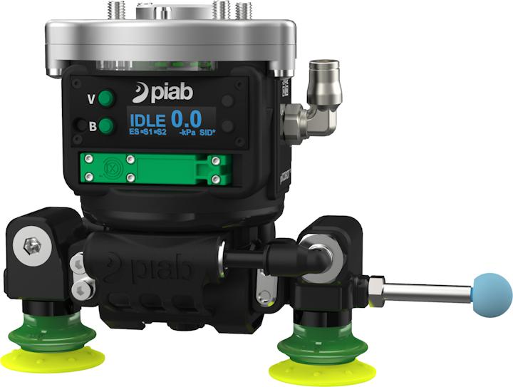 piCOBOT de Piab es una solución certificada por Universal Robots y se construyó sobre el concepto de una interacción segura y flexible entre humanos y robots en el lugar de trabajo.