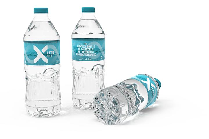 X-LITE™ Still es la innovadora solución de envasado en PET de 500 ml más reciente de Sidel para el agua sin gas no presurizada.