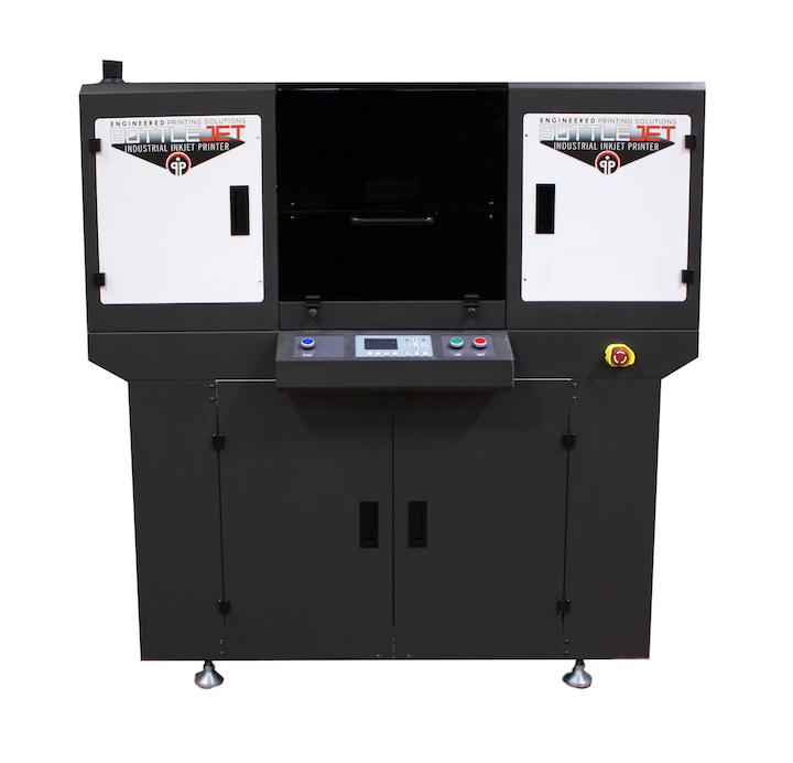 La nueva impresora de inyección de tinta cilíndrica BottleJET 2.0 está diseñada específicamente para decorar botellas y vasos cilíndricos de paredes planas o cónicas.