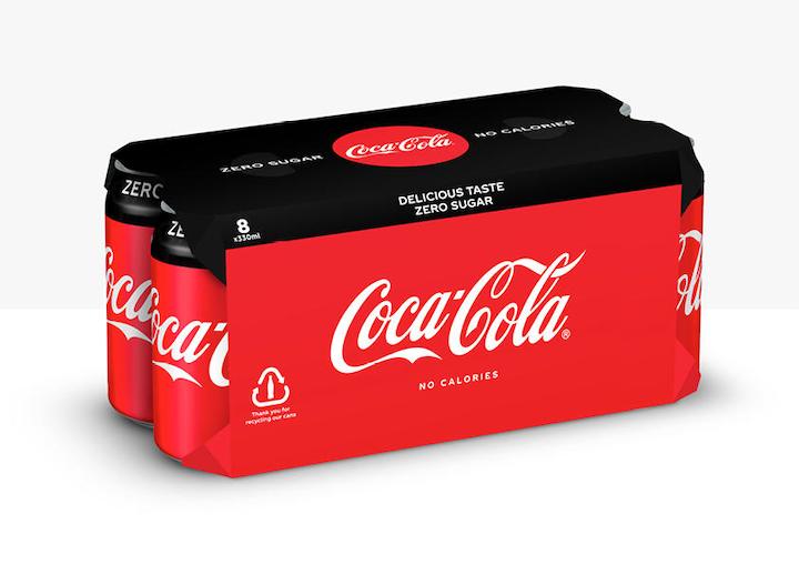 Coca-Cola European Partners reemplazará el plástico retráctil con cartón para sus envases múltiples en Europa Occidental.