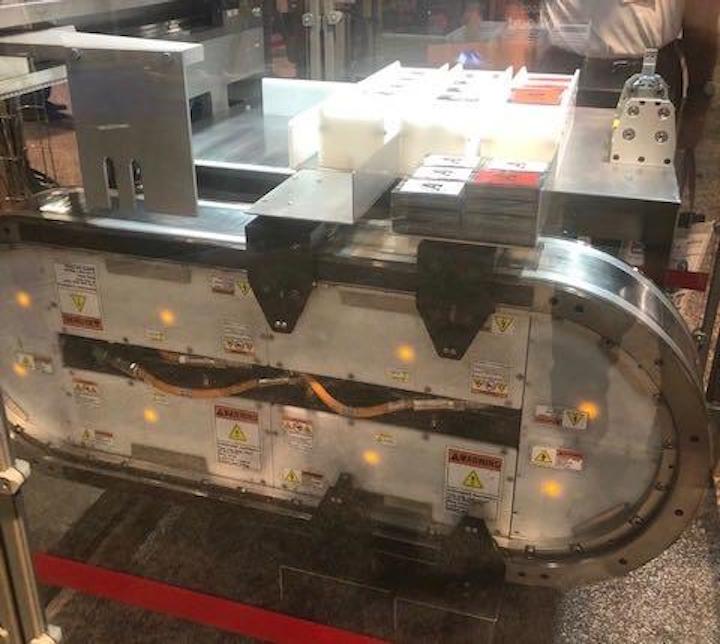 El iTrak 5730 en exhibición en PACK EXPO Las Vegas 2019.