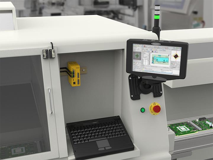 El controlador de seguridad SC10 de Banner Engineering combina la funcionalidad de dos relés con la inteligencia de un controlador de seguridad para una solución intuitiva y rentable para máquinas más pequeñas.