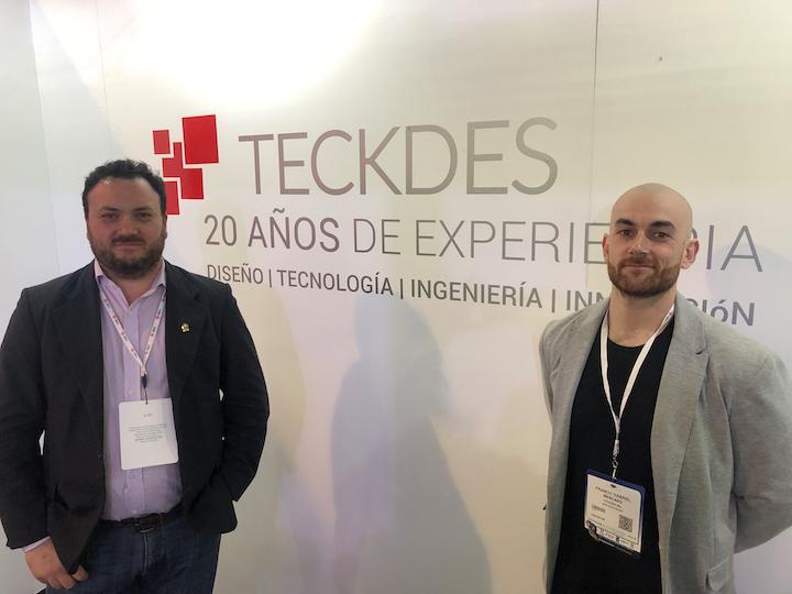 Silvio Colombo, gerente general de Teckdes, y Franco Mercado, director de diseño.