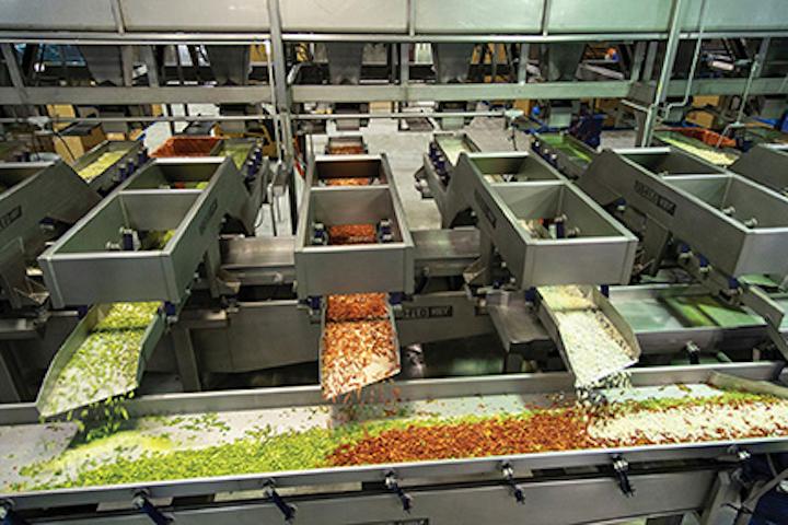 La Huerta utiliza los transportadores vibratorios Iso-Flo de Key Technology y los sistemas Veg-Mix para procesar y empacar frutas y vegetales congelados.