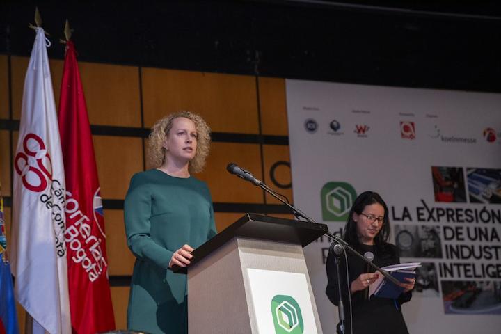 En el acto de lanzamiento, Anne Schumacher, vicepresidenta de Ferias Comerciales de Koelnmesse destacó los beneficios que representa la alianza con Corferias para la organización del evento.