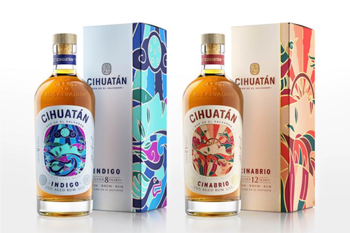 La firma de diseño Appartement 103 construyó la base de una identidad visual completamente nueva para el ron Cihuatán de los mitos mayas.
