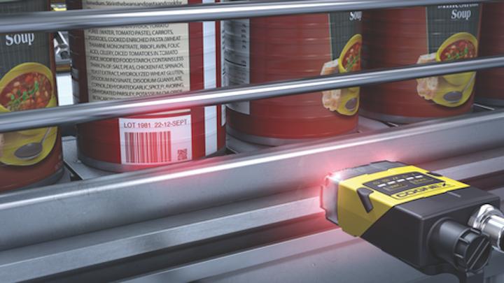 Los escáneres basados en imágenes están desplazando a los escáneres láser estándar, proporcionando la capacidad para leer códigos de barras 2D, que pueden ser mucho más pequeños que los códigos de barras tradicionales. Foto cortesía de Cognex.