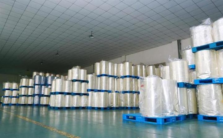 Área de almacenamiento películas encogibles PVC Blown y PETg