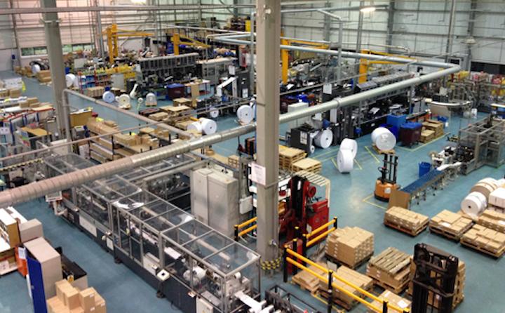 El primer día de lanzamiento con el sistema ERP actualizado en el sitio de fabricación de Avery en Northampton, Reino Unido.