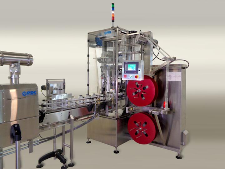 La R-100 está diseñada para un funcionamiento contínuo en velocidades entre 20 a 100 envases por minuto.