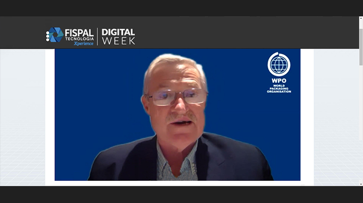 Pierre Pienaar, presidente de la World Packaging Organization, WPO, durante FispalTec Digital Week 2020.