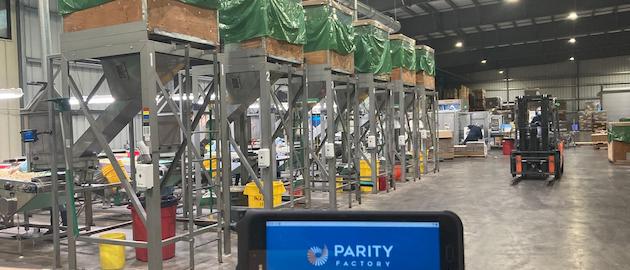 GoldRiver requiere una visibilidad detallada a través de todas las etapas de clasificación, hasta el envío. El software ParityFactory rastrea el movimiento del producto a lo largo de todas las fases de producción.